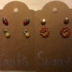 NEW Summer Days earrings set 4 pair